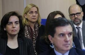 La infanta Cristina de Borbon durante el juicio por el caso Noos