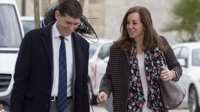 La exconsejera delegada de la candidatura olímpica Madrid 2016, Mercedes Coghen, a su llegada al juicio este jueves.