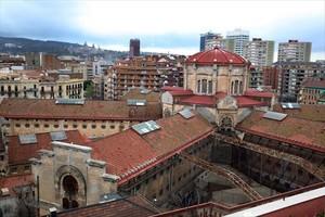 Conjunto de edificios de la cárcel Modelo de Barcelona, cuyo traslado sigue en el aire por falta de fondos.