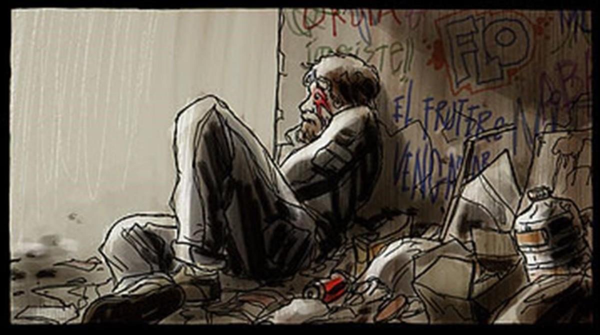 Viñeta del cómic Hoy es un buen día para morir, de Colo.