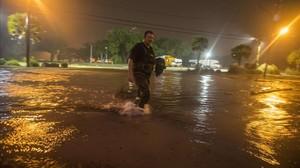 Consecuencias del huracán Nate, a su paso por Oklahoma.