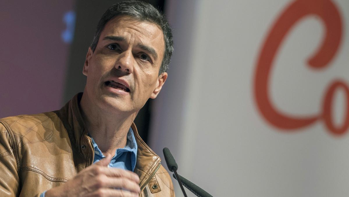 Pedo Sánchez, en Toledo, en el congreso regional del PSOE.