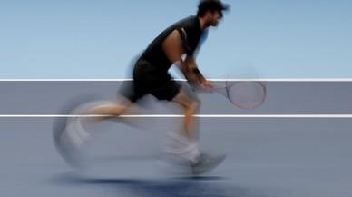 Andy Murray, en una acció durant el partit contra el croat Marin Cilic.