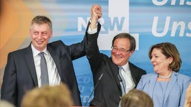 Merkel tumba a los socialdemócratas en su feudo de Renania del Norte