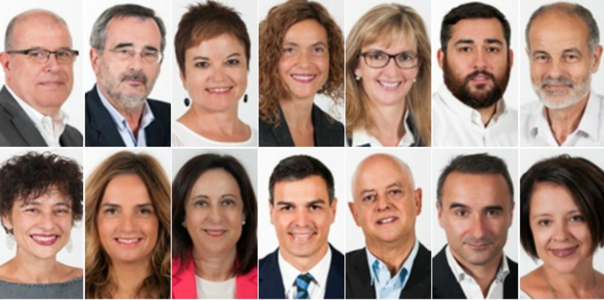 Algunos de los diputados socialistas que podr�an votar 'no' a la investidura de Mariano Rajoy.