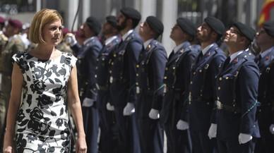 Cospedal visita a dos batallones del Ejército en Catalunya