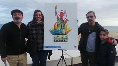 Un demonio inspirado en la Estatua de la Libertad es el diseño ganador del 'Dimoni' de Badalona