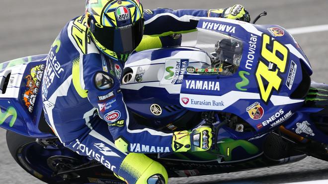 Rossi sorprèn Lorenzo i Márquez a Jerez