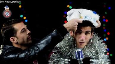 Els jugadors de l'Espanyol canten una nadala en xinès