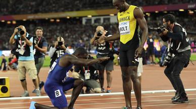Gatlin destrona Bolt als 100 metres