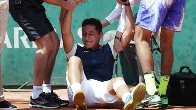 La imatge del dia: Del Potro consola Nicolás Almagro després de caure lesionat