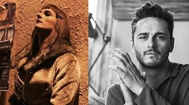 A la izquierda, caracterizado de Lupita. A la derecha, el actor Asier Etxeand�a.