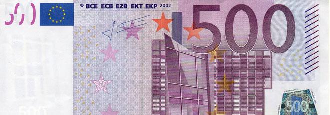 Los billetes de 500 euros tienen los días contados