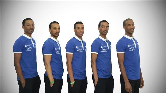 Los cinco corredores que el domingo corren en Terrassa.