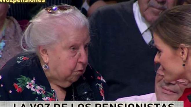 La pensionista Paquita parla de la desigualtat de les pensions entre homes i dones i es converteix en un fenomen després del seu pas per'La Sexta Noche'.