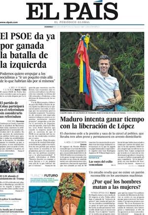 prensa madrid enaltece dirigente antichavista leopoldo lópez excarcelado