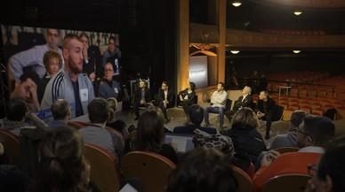 Imagen de la presentación de 'Jo pregunto', en el Teatre Conservatori de Manresa.
