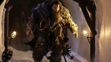 Elmalogrado actor británico Neil Fingleton, caracterizado como Mag El Poderoso en la serie de la cadena HBO 'Juego de tronos'.