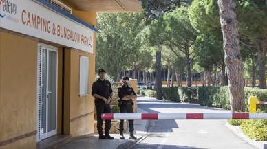 La Guàrdia Civil de l'1-O s'allotja al càmping de les maniobres militars de l'Escala