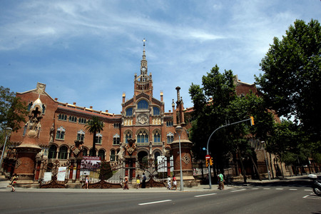 Fachada del edificio histrico de Sant Pau, en una imagen captada el 24 de junio.