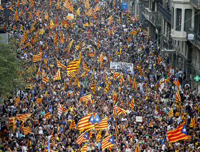 Imagen de la multitudinaria manifestacin del Onze de Setembre del 2012.
