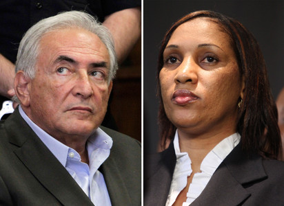 Dominique Strauss-Kahn y Nafissatou Diallo.