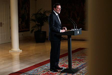 Mariano Rajoy, este jueves, en la comparecencia de prensa tras el Consejo de Ministros.