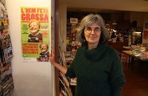 Mercè Vallvè, propietaria de la librería Can Lletres, que ha repartido el tercer premio de la Grossa en Barcelona.