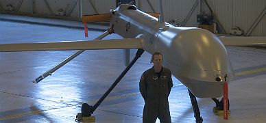 Un drone militar.