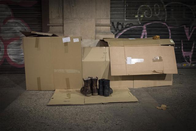La pobreza en Barcelona, una de las fotografías del especial multimedia de EL PERIÓDICO
