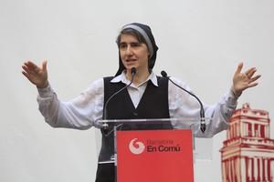 Teresa Forcades, en un acte de Barcelona en Comú, el maig passat