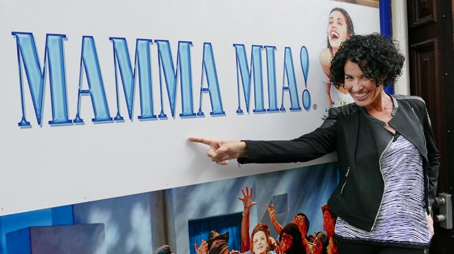 Nina a Londres. espectacle Mamma Mia!
