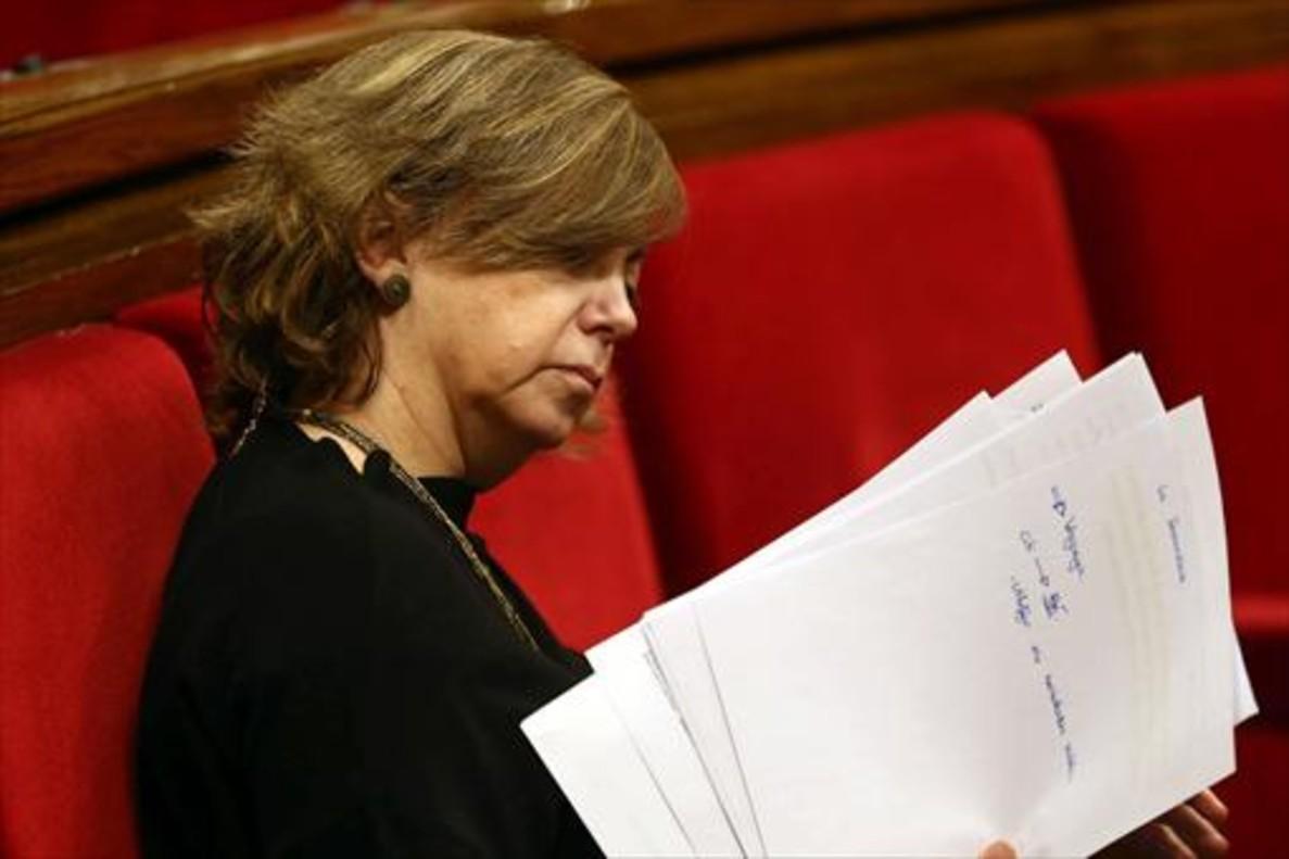 Meritxell Borràs, consellera de Governació, ayer, en el Parlament.
