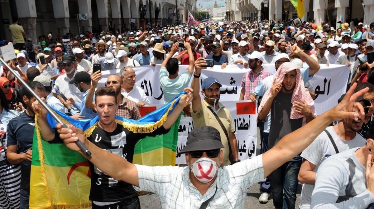protestas en marruecos por alhucemas