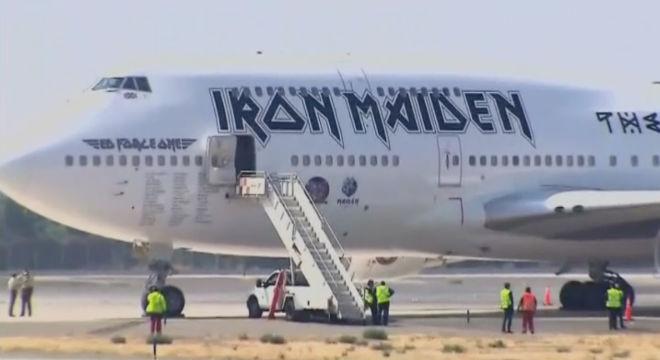 Imágenes del avión siniestrado en el aeropuerto Arturo Merino Benítez, en Chile.