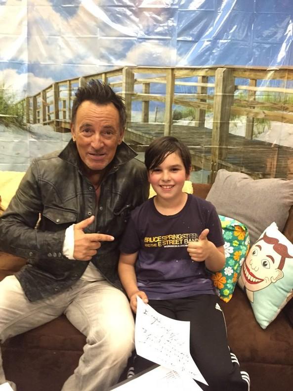 El mensaje de Bruce Springsteen para que un ni�o pueda hacer novillos