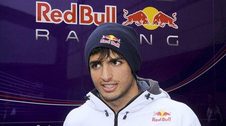 Carlos Sainz, con los colores de Red Bull en Silverstone.