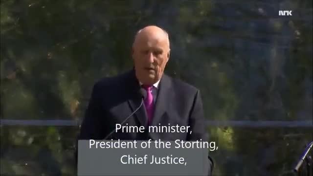 ¿Per què aquest discurs del rei Harald de Noruega està fent la volta al món?
