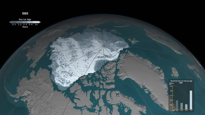 VÍDEO: Així desapareix el gel més antic de l'Àrtic