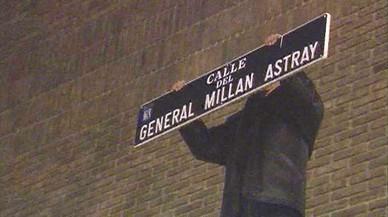 Un juez ordena paralizar el cambio de nombre de la calle Millán Astray de Madrid