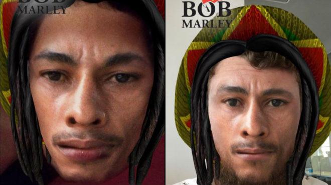 Snapchat llança un polèmic filtre de Bob Marley