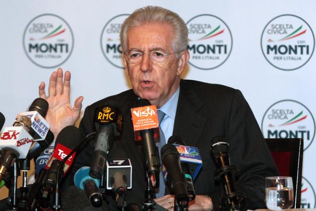 Monti anuncia una reforma de la ley electoral si gana las elecciones