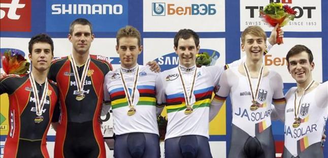 El madison da la segunda medalla de plata a Espa�a en el Mundial