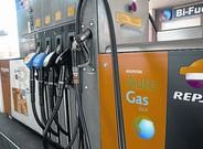 Surtidor de autogás en una de las gasolineras de Repsol en Barcelona.