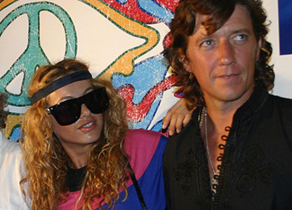 Paulina y Colate, en el 2008.