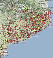 Mapa de los municipos catalanes por la independencia