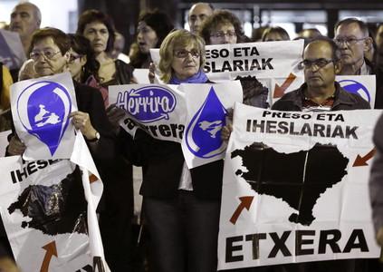 Manifestación en Bilbao en defensa de los presos de ETA, el pasado 5 de octubre.
