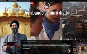 El proyecto de EL PERIÓDICO Derribando el muro digital, destacado como periodismo innovador