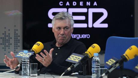 Carlo Ancelotti, en los estudios de la Cadena Ser.
