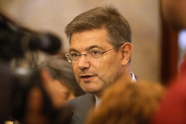 El ministro de Justicia, Rafael Catalá, en declaraciones sobre el caso Rato